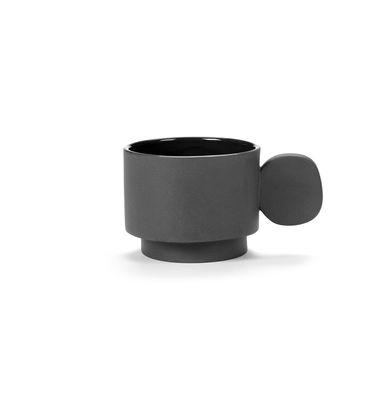 Tasse Inner Circle / 20 cl - Grès - valerie objects gris en céramique