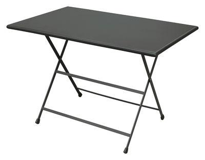 Outdoor - Tavoli  - Tavolo pieghevole Arc en Ciel - 110 x 70 cm - Pieghevole di Emu - Ferro antico - Acciaio inossidabile verniciato