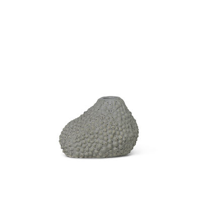 Decoration - Vases - Vulca Mini Vase - / Enamelled stoneware by Ferm Living - Grey dots - Enamelled sandstone