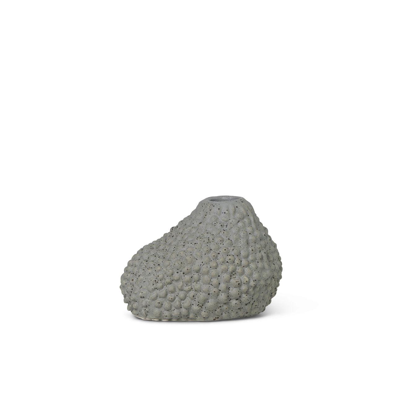 Déco - Vases - Vase Vulca Mini / Grès émaillé - Ferm Living - Points gris - Grès émaillé