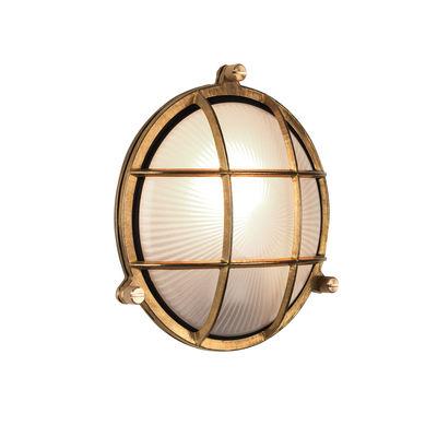 Lighting - Wall Lights - Thurso Round Wall light - / Ceiling light by Astro Lighting - Brass - Glass, Solid brass