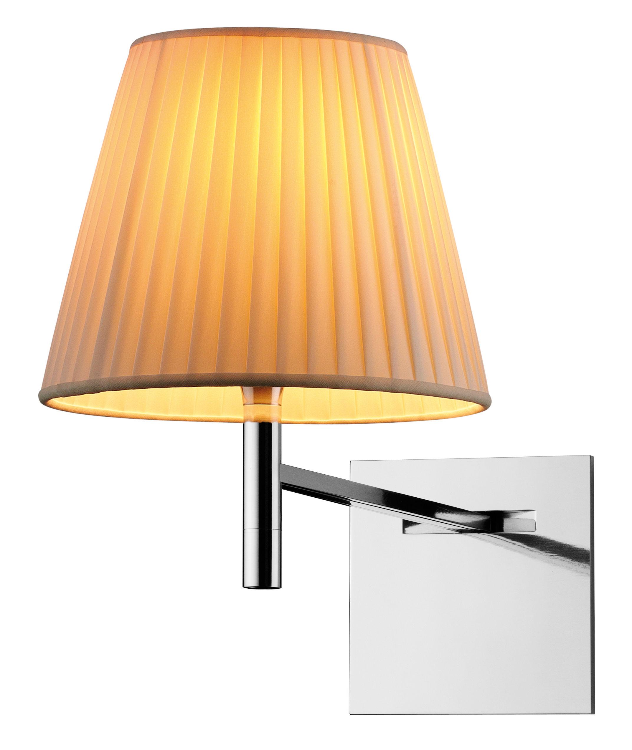 Leuchten - Wandleuchten - K Tribe W Soft Wandleuchte - Flos - Plissierter Stoff - Gewebe, poliertes Aluminium