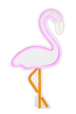 Applique avec prise Neon Flamant rose Large / LED - H 60 cm - Sunnylife rose en verre