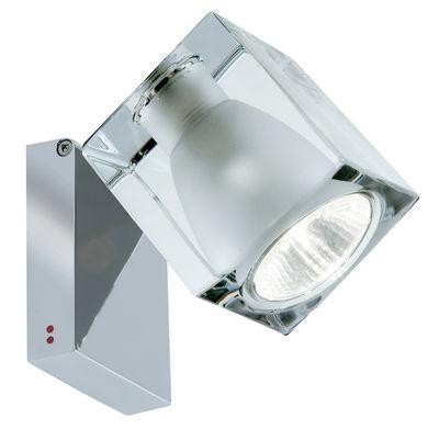 Luminaire - Appliques - Applique Cubetto  Crystal / Plafonnier - Orientable - Fabbian - Transparent / Structure chromée - Métal chromé, Verre