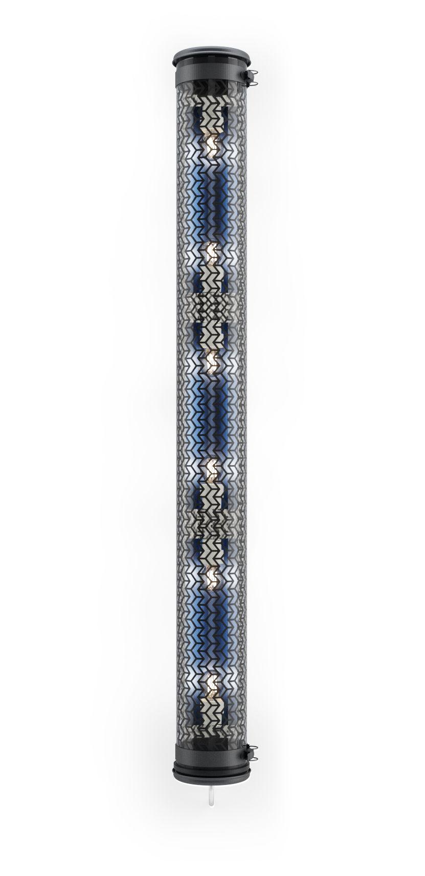 Illuminazione - Lampade da parete - Applique Monceau - / Sospensione - L 134 cm di SAMMODE STUDIO - Noir / Bleu Pétrole - Acciaio inossidabile, Alluminio anodizzato, policarbonato