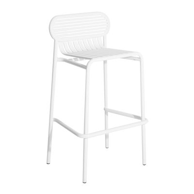 Furniture - Bar Stools - Week-End Bar stool - / Aluminium - H 80 cm by Petite Friture - White - Powder coated epoxy aluminium
