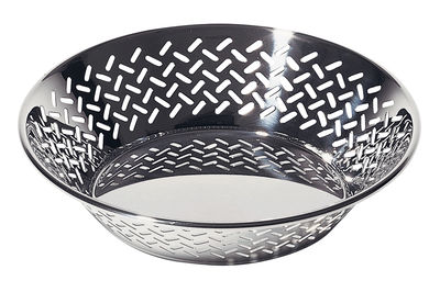 Tableware - Fruit Bowls & Centrepieces - 5021 Basket - By Ettore Sottsass - Ø 25 cm by Alessi - Shiny steel - Shiny 18/10 steel