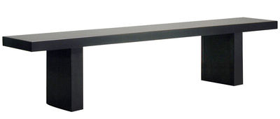 Furniture - Benches - Tommaso Bench - L 210 cm by Zeus - Black - Phosphated steel