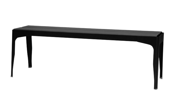 Furniture - Benches - Y Bench - Lacquered steel - L 140 cm by Tolix - Black - Lacquered recycled steel