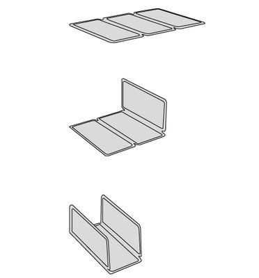 Network Bücherregal / mit 5 abnehmbaren Regalelementen - L 98 cm x H 192 cm  - Casamania