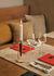 Umanoff Candle stick - / Walnut & brass by Menu