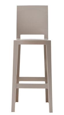 Chaise de bar One more please / H 65cm - Plastique - Kartell sable en matière plastique