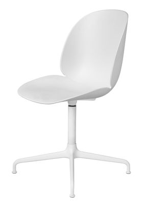 Chaise pivotante Beetle / Gamfratesi - Gubi blanc en métal