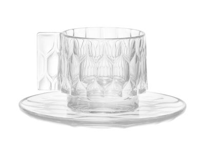 Tableware - Coffee Mugs & Tea Cups - Jellies Family Coffee cup - Set cup + saucer by Kartell - Crystal - Thermoplastic technopolymer