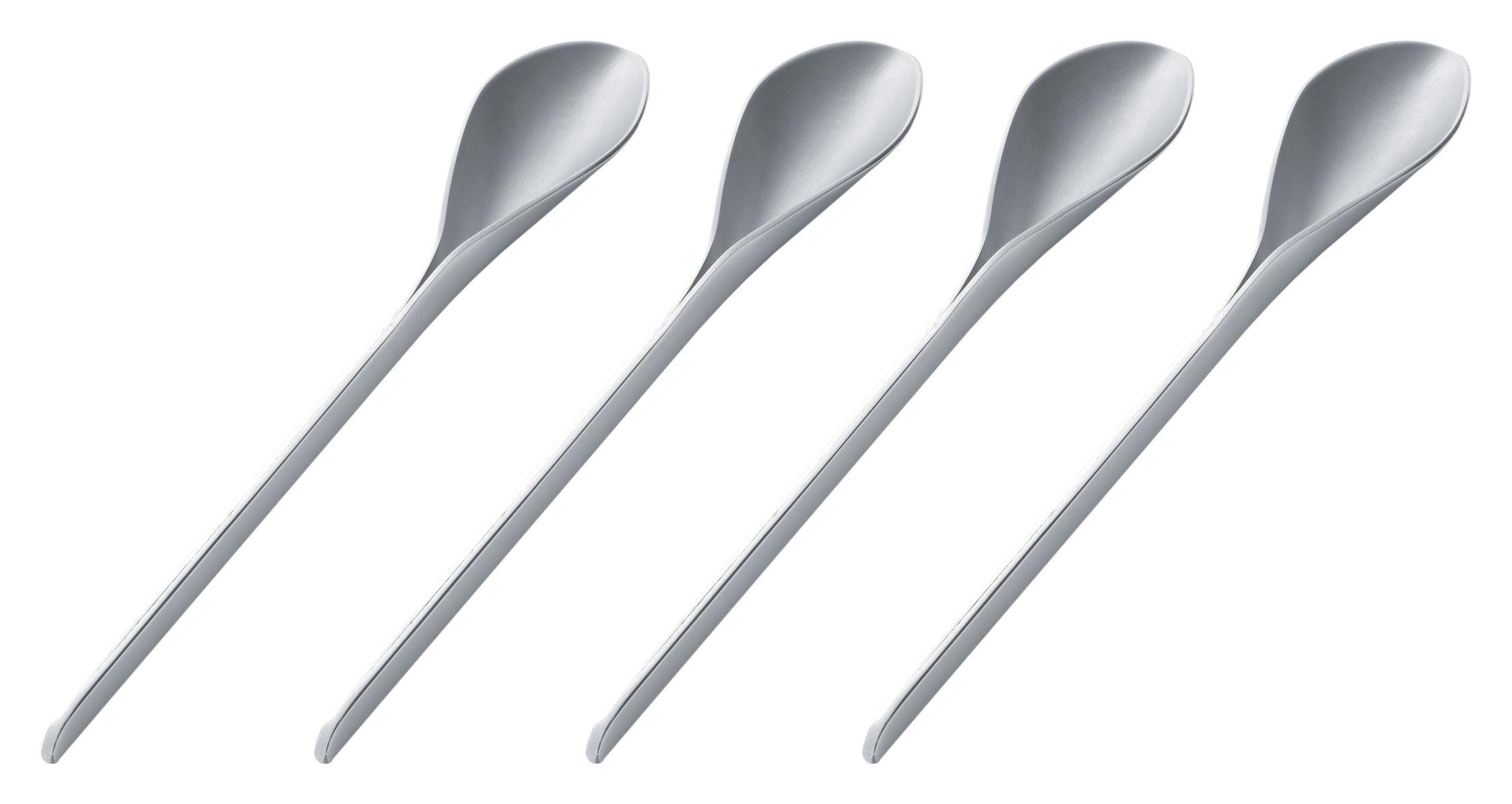 Tavola - Posate - Cucchiaio da caffé E-Li-Li - Set di 4 di Alessi - Acciaio - Acciaio inossidabile