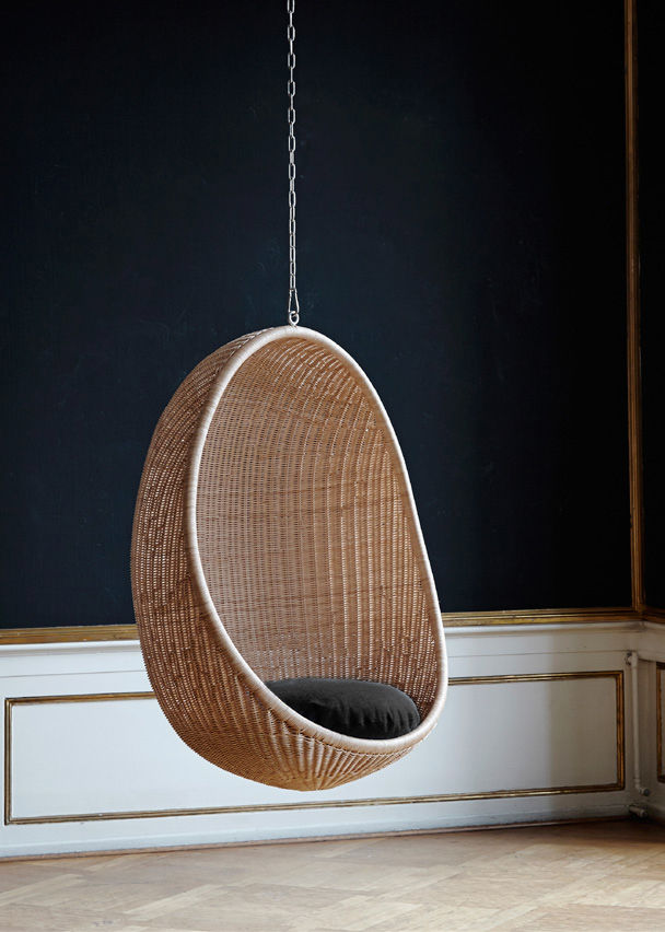 fauteuil suspendu uf rdition 1959 fauteuil naturel sika design made in design - Chaise Oeuf Suspendu
