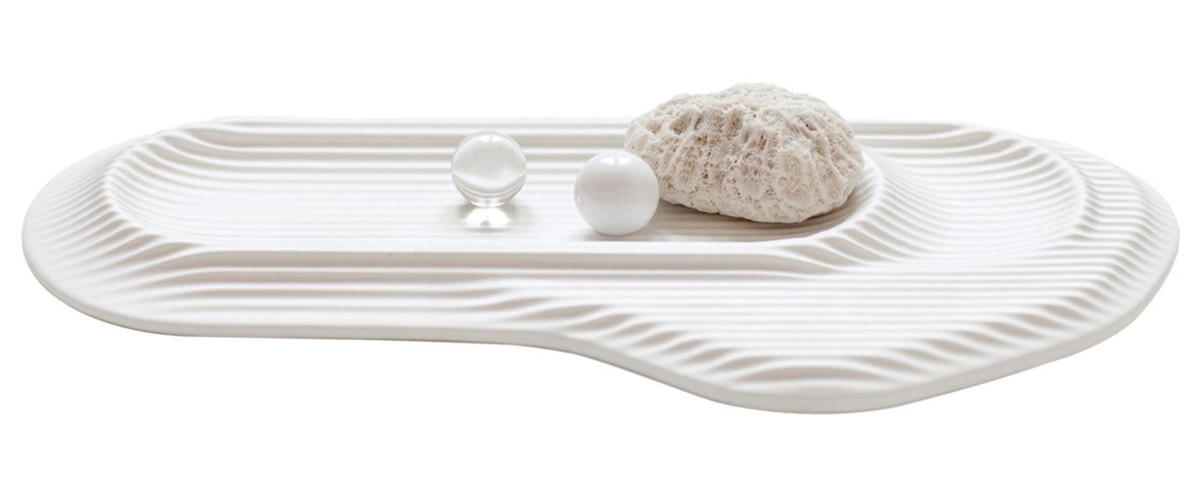 Dekoration - Büro - Ceramic Feeld Federkasten - Moustache - Weiß - emaillierte Keramik