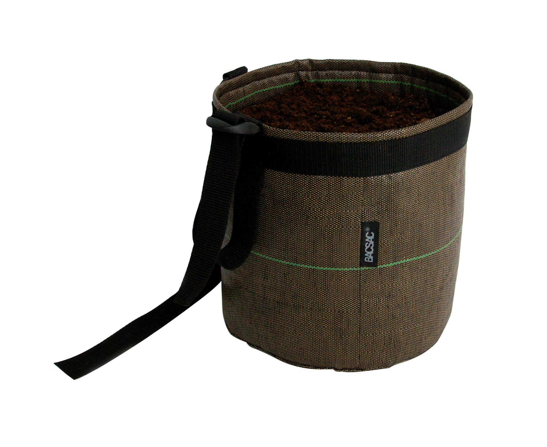 Outdoor - Pots & Plants - Suspendu Geotextile Hanging pot - 3 L - Outdoor by Bacsac - Brown - 3L - Geotextile cloth