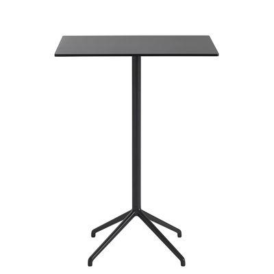 Furniture - High Tables - Still Café High table - / 75 x 65 cm x H 105 cm - Linoleum by Muuto - Black - Cast aluminium, MDF with linoleum finish, Steel