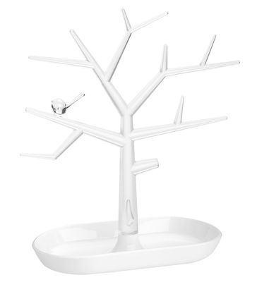 Decoration - Centrepieces & Centrepiece Bowls - PI:P Jewellery box - H 30,3 cm by Koziol - White / Transparent - Polypropylene