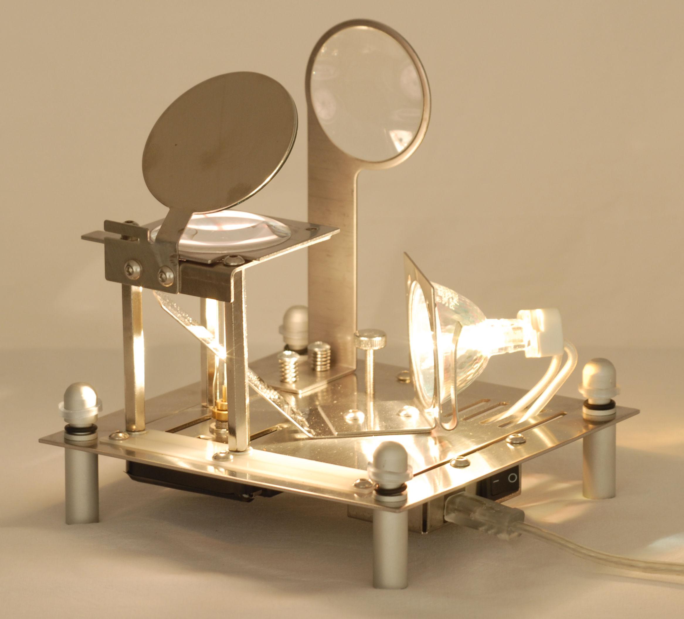 Cube miroir lampada da tavolo specchio by designheure made in design - Specchio da tavolo ...