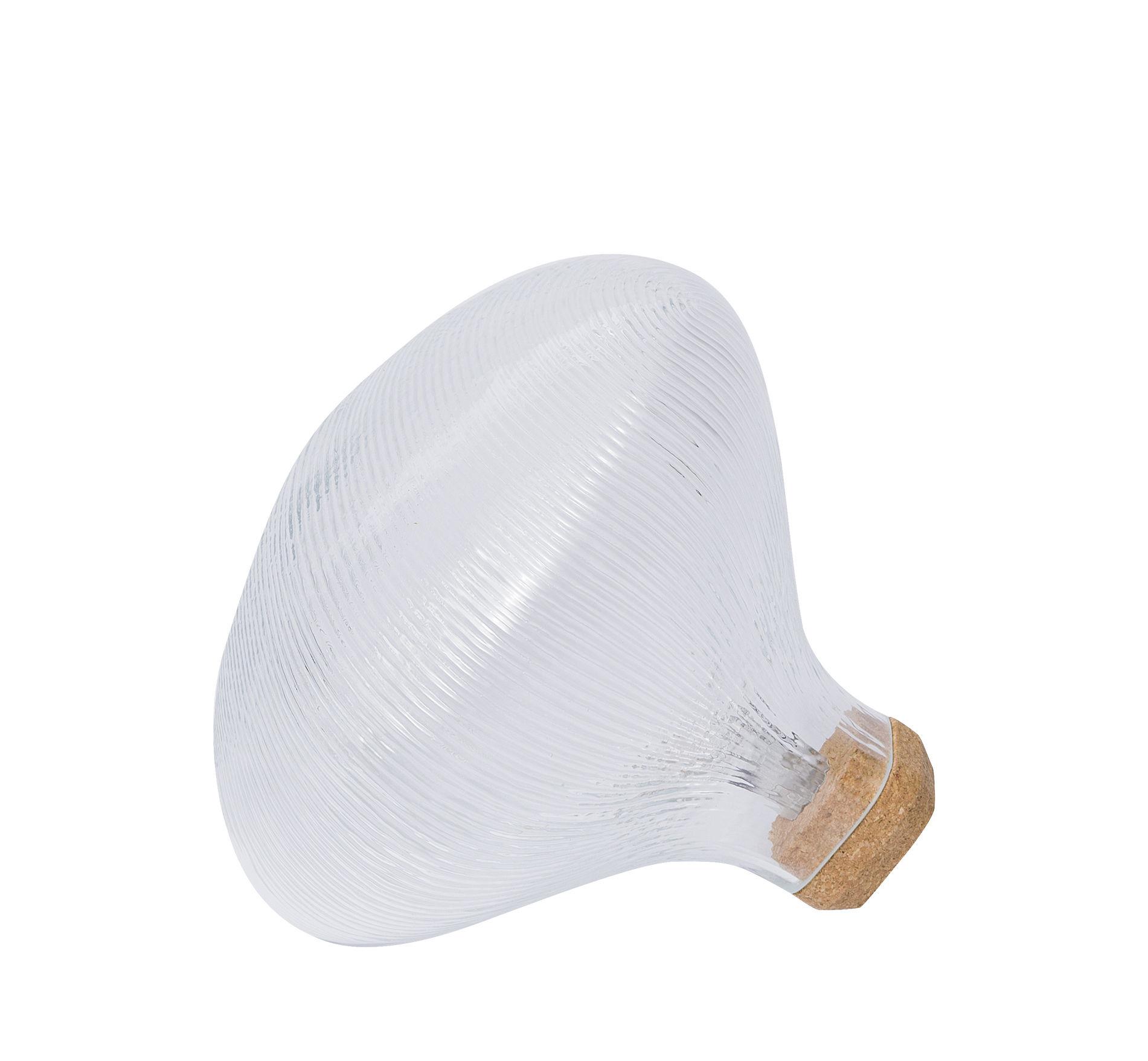 Illuminazione - Lampade da tavolo - Lampada da tavolo Tidelight di Petite Friture - Trasparente - Sughero, vetro soffiato