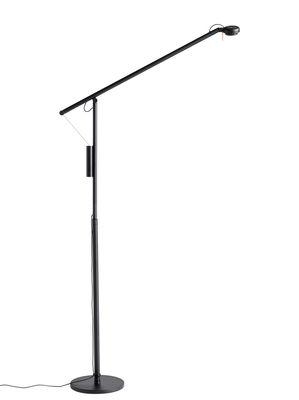Lampadaire Fifty-Fifty / Orientable - H 135 cm - Hay noir en métal