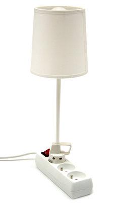 Lampe de table Branchée - La Corbeille blanc en métal