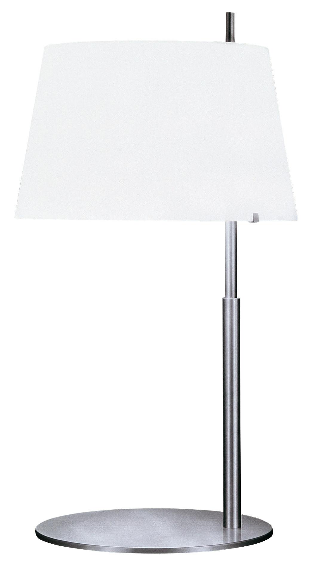 Luminaire - Lampes de table - Lampe de table Passion - Fontana Arte - H 60 cm - Nickel brossé - Laiton brossé, Verre soufflé