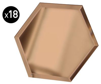 Déco - Miroirs - Miroir autocollant Mirrorize Hexagone / 20x20 cm - Set de 18 pièces - Seletti - Fumé - Verre