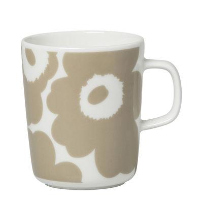 Arts de la table - Tasses et mugs - Mug Unikko / 25 cl - Marimekko - Unikko / Beige - Grès
