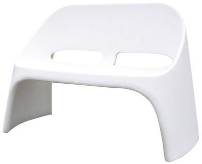 Arredamento - Panchine - Panca con schienale Amélie - 2 posti di Slide - Bianco - polietilene riciclabile