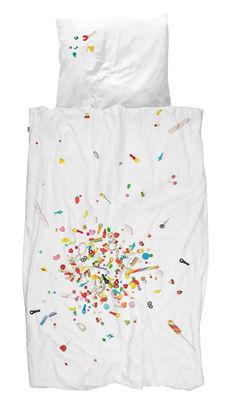 Déco - Pour les enfants - Parure de lit 1 personne Candy Blast / 140 x 200 cm - Snurk - Bonbons multicolores - Percale de coton