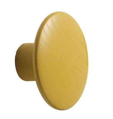 Mobilier - Portemanteaux, patères & portants - Patère The dots / Small - Ø 9 cm - Muuto - Jaune moutarde - Frêne teinté