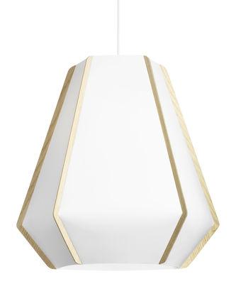 Lighting - Pendant Lighting - Lullaby P3 Pendant - Ø 59 x H 56 cm by Lightyears - White / Ash - Ashwood, Papier de pierre