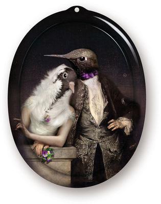Tavola - Vassoi  - Piano/vassoio The Boudoir - Lovebirds - / Quadro - H 26 cm di Ibride - Multicolore - Laminato massello