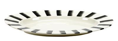 Image of Piatto Pasta Pasta XL - / Per la pasta - Porcellana - 57 x 40 cm di Serax - Bianco,Nero - Ceramica