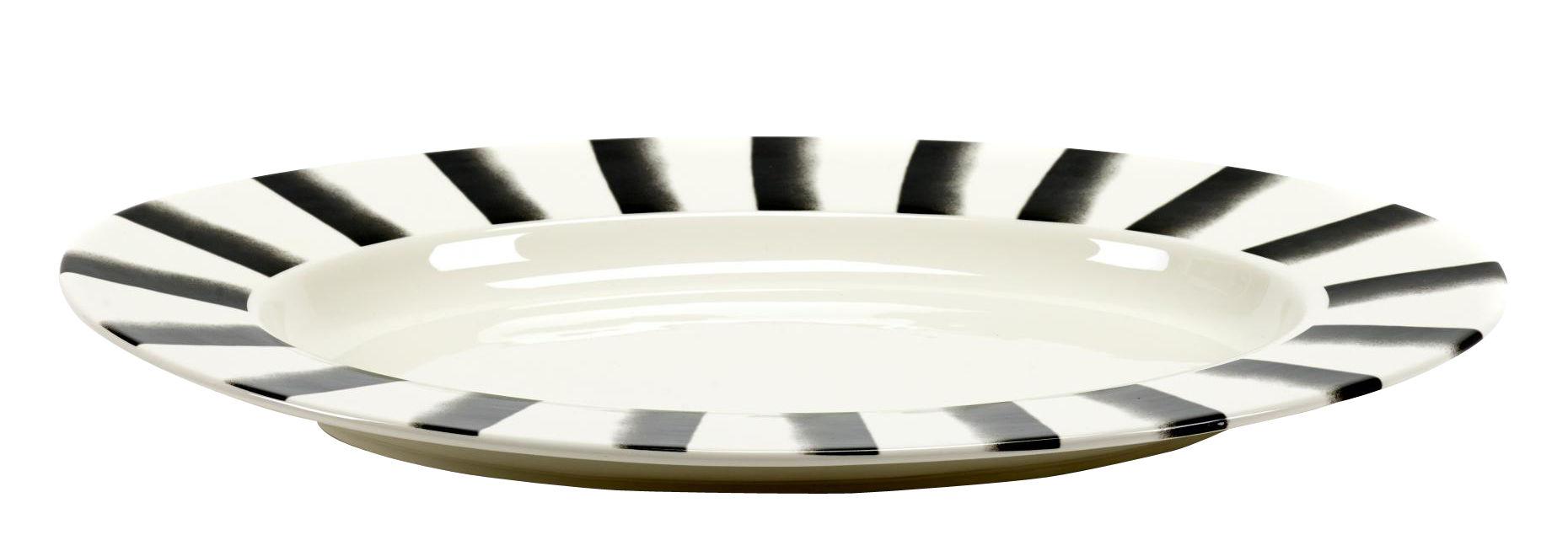 Arts de la table - Plats - Plat Pasta Pasta XL / Pour pâtes - Porcelaine - 57 x 40 cm - Serax - Noir & blanc - Porcelaine