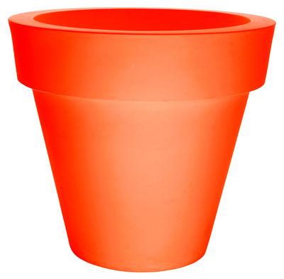 Pot de fleurs Vas-Two - Serralunga orange en matière plastique