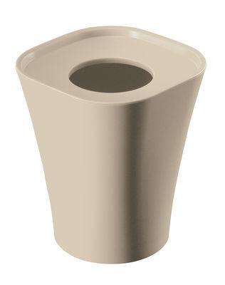 Poubelle Trash H 36 cm - Magis beige en matière plastique