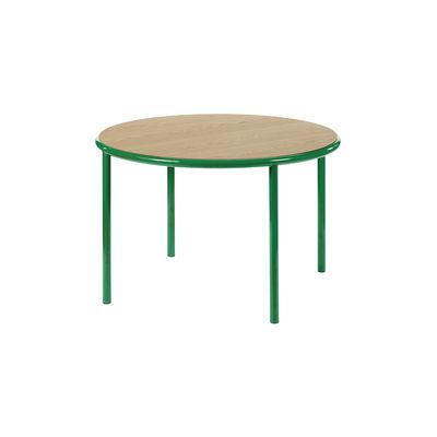 Furniture - Dining Tables - Wooden Round table - / Ø 120 cm - Oak & steel by valerie objects - Green / Oak - Oak, Steel