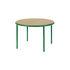 Wooden Round table - / Ø 120 cm - Oak & steel by valerie objects