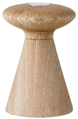 Eierbecher - Salz, Pfeffer und Gewürze - Forest Salzmühle - Stelton - Salz / Holz & weißes Logo - Eiche, Keramik, rostfreier Stahl