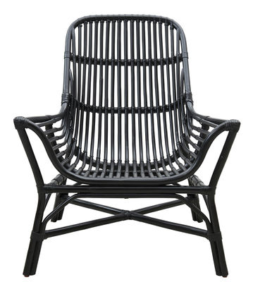 Möbel - Lounge Sessel - Colony Sessel / aus Rattan - House Doctor - Schwarz - Rattan
