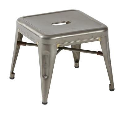 H Mini Sitzkissen / Tritthocker - H 30 cm - Stahl - Tolix - Rohstahl glänzend