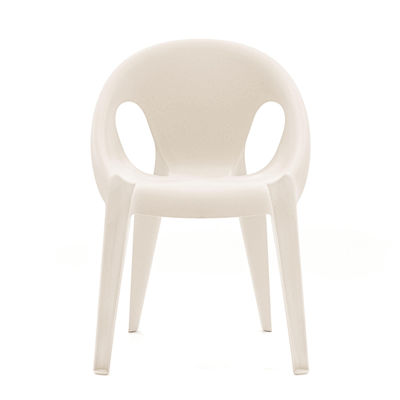 Furniture - Chairs - Bell Stackable armchair - / By Konstantin Grcic / Recycled polypropylene - Eco-designed by Magis - Highnoon white - Recycled polypropylene