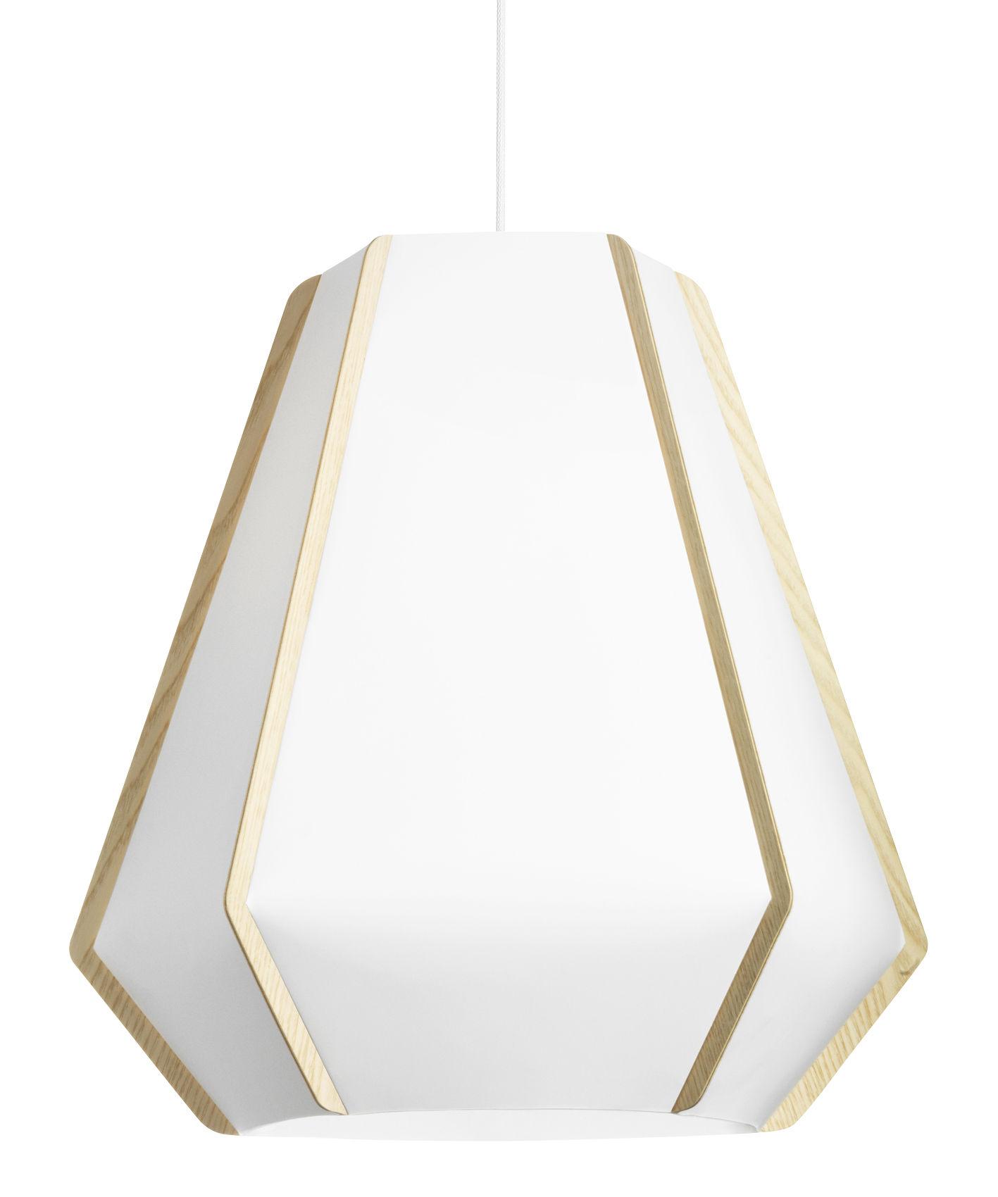 Luminaire - Suspensions - Suspension Lullaby P3 / Ø 59 x H 56 cm - Lightyears - Blanc / Frêne - Frêne, Papier de pierre