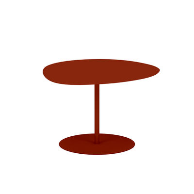 Table basse Galet n°1 OUTDOOR / 59 x 63 x H 40 cm - Matière Grise rouge/orange/marron en métal