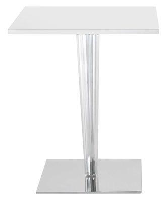 Table carrée Top Top - Contract outdoor / 70 x 70 cm - Kartell blanc en matière plastique