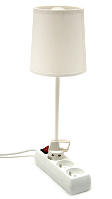 Lighting - Table Lamps - Branchée Table lamp by La Corbeille - White - Fabric, Lacquered steel